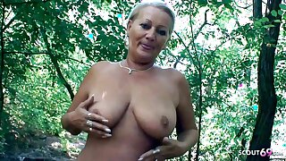 Curvy 73yr old Granny, POV Scandal Sex on way home with Young Suppliant