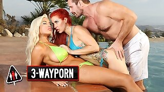 3Way Porn - Anal Troika & Creampie for Savana Styles