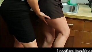 Brunette Opens Her Legs vulnerable the Office Kitchen Counter Lesbian Mobile Free Porn HD