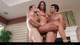 The mendicant brunette dominatrix tells her mendicant to titty-fuck her huge boobs