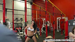 Brazzers - Gym Foursome together with anal workout