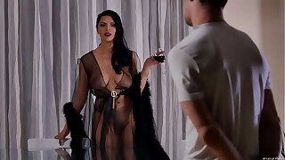 Kira VIP seduced her neighbor and fucked on someone's skin dinner table