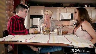 Silly Brat Gets Lucky With Mom's Hot Friend Ariella Ferrera