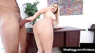 Big Booty Boss Nina Kayy Silenced Away from Big Cock Latino Intern!